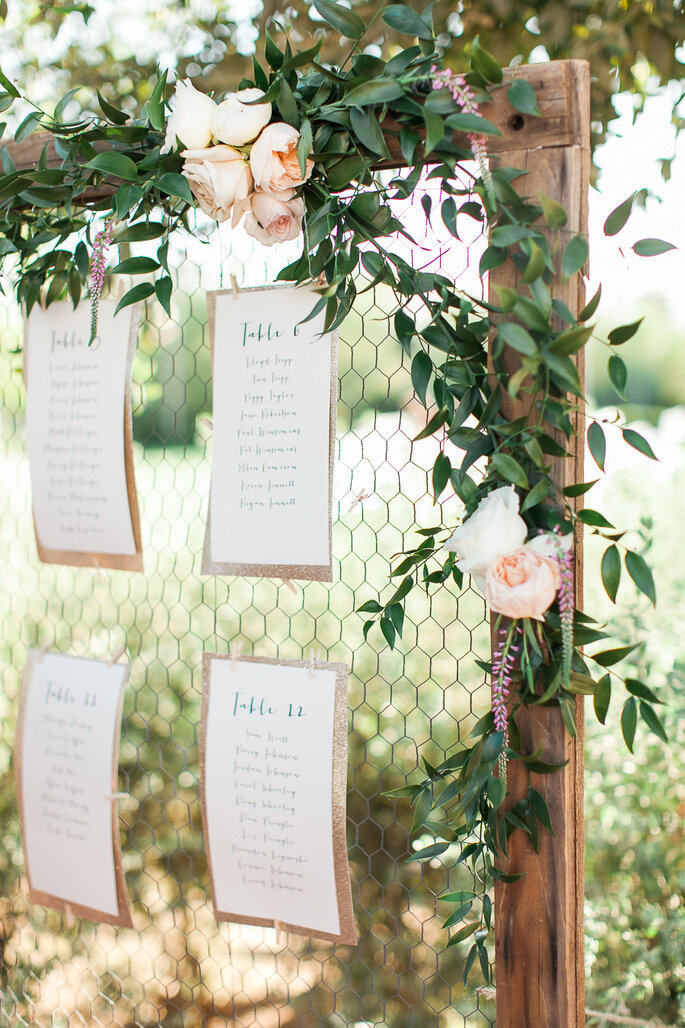 Ideas originales en seating charts - Rachel Solomon Photography
