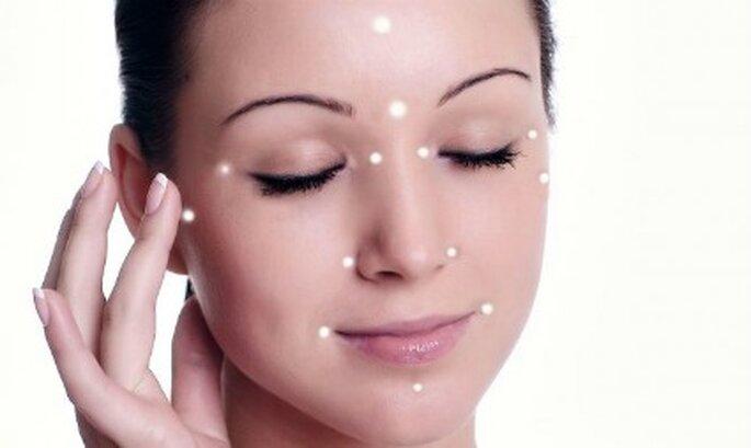 Puntos faciales para aplicar el iluminador