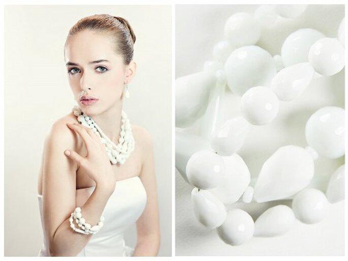 Echte Perlen bringen Unglück – versuchen Sie es also mit weißen Schmucksteinen – Foto: fulara