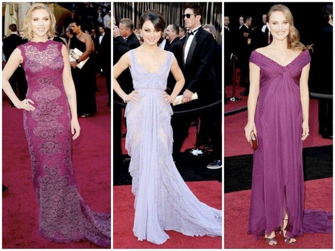 De izquierda a derecha: Scarlett Johansson, Mila Kunis, Natalie Portman