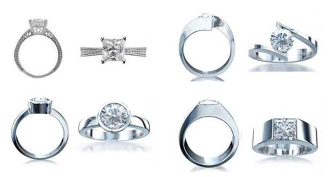 Diseños intrincados para anillos de compromiso - Foto: Varré Joyeros