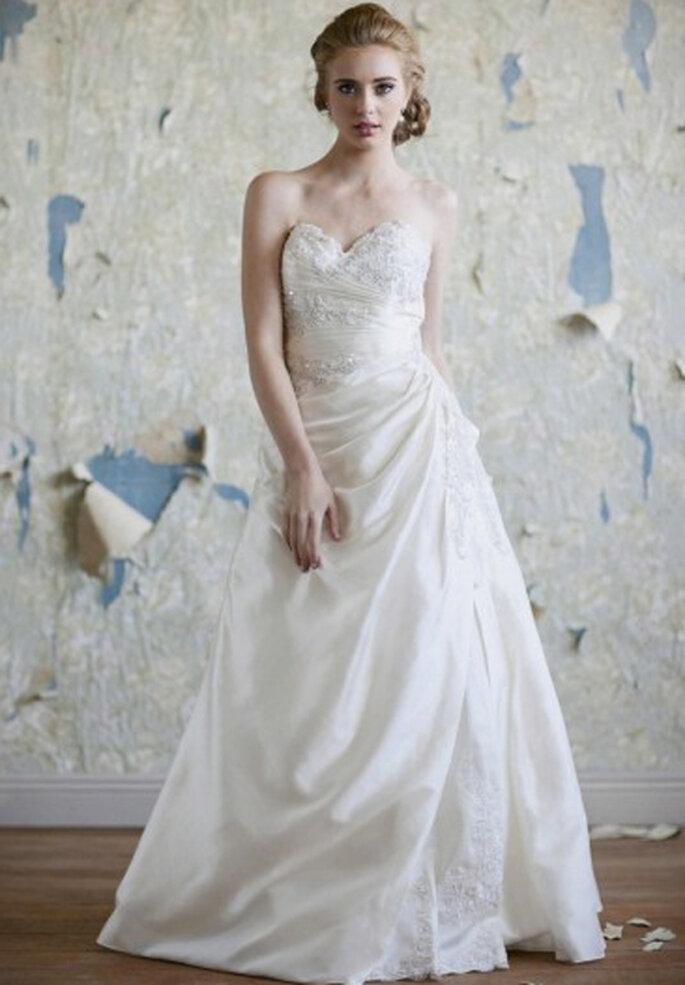 Vestido de novia strapless estilo vintage - Foto: Ruche