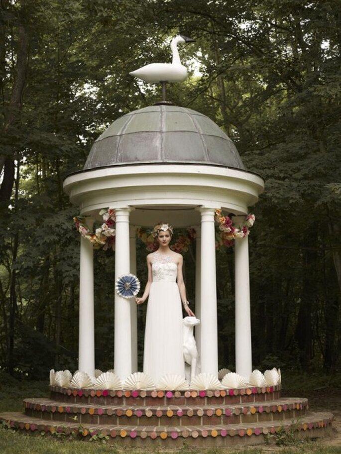 Vestido de novia para boda temática de Alicia en el país de las Maravillas