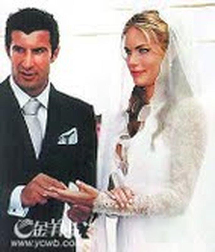 Boda de Luis Figo y Helen Svedin (junio 2001)