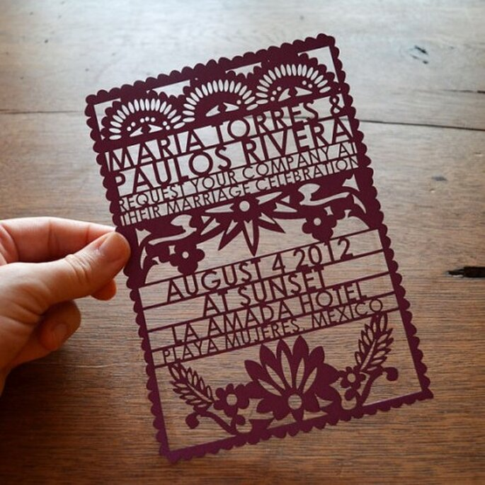 Invitation papel picado - aviedesigns.com
