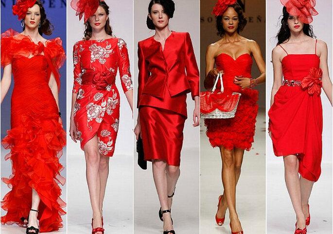 Vestidos de fiesta rojos 2014