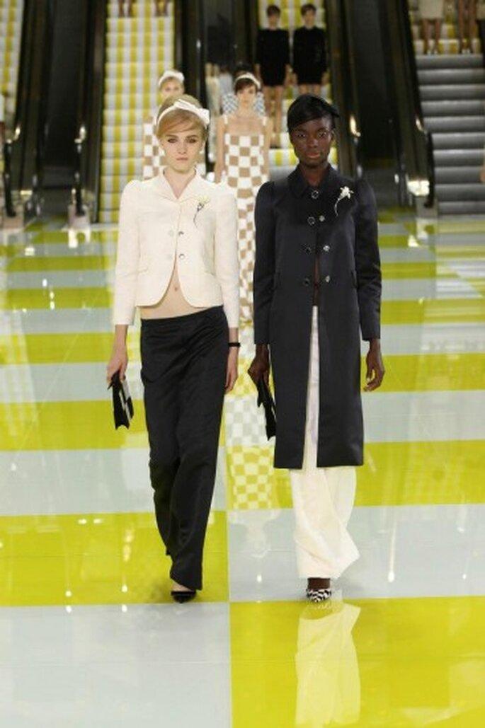 Vestidos de fiesta tendencias 2013. Foto de © Louis Vuitton y Ludwig Bonnet vía Facebook.