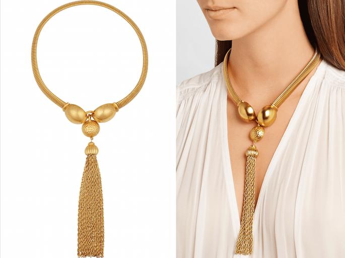 Accesorios en color dorado para una invitada muy fashionista - Ben Amun en Net a Porter