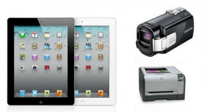 Regalos para parejas-tech: iPad, cámara de vídeo, impresora láser