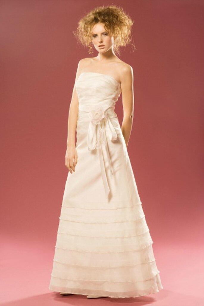 Robe de mariée sur mesure Aurélie Cherell - modèle Violette