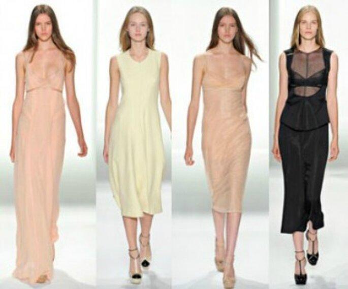 Calvin Klein e le sue linee semplici ed eleganti. Foto www.verycool.it