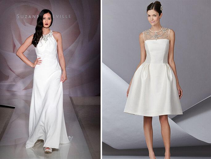 Vestidos de novia con joyas incorporadas - Foto Suzanne Neville y Carolina Herrera