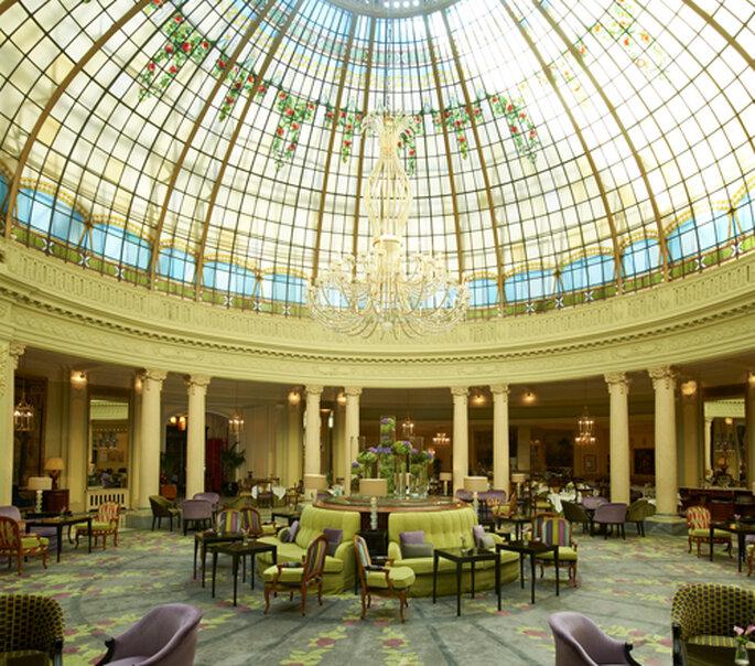 Cúpula vitral del salón de invierno del Palace- Foto: The Westin Palace