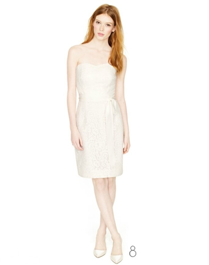 Vestido de novia strapless de corte recto - Foto: JCrew Wedding Collection 2012