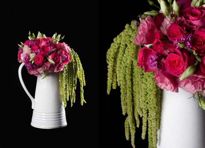 Ramo de rosas con un toque rustico - Foto: Ramos Boutique Floral