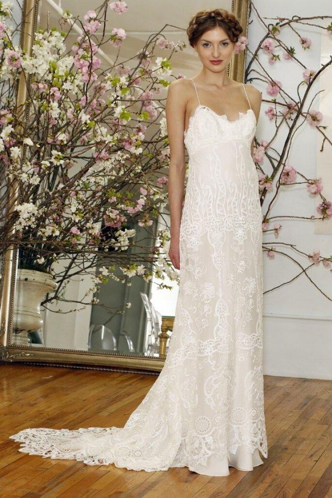 Свадебное платье с кружевом от Elizabeth Fillmore весна 2015