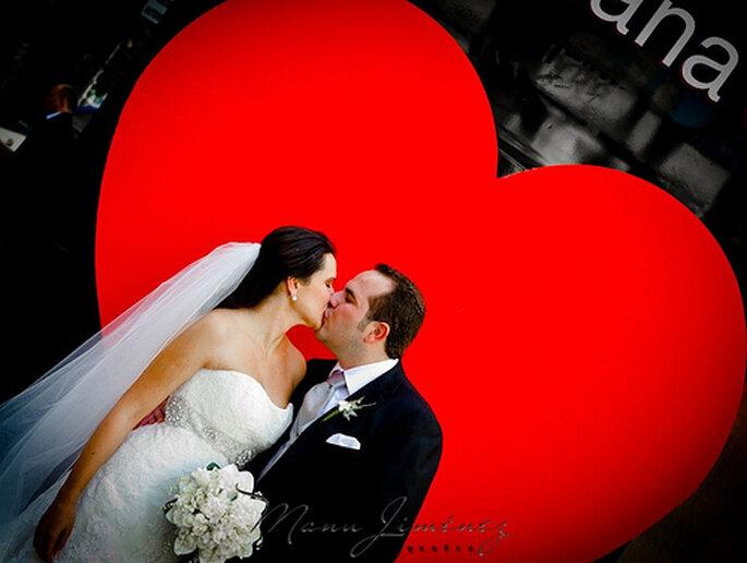 ¡Corazones en todos lados para tu boda! Foto de Manu Jiménez