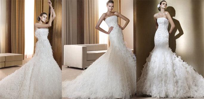 Robes de mariée à plumes Pronovias - Collection Dreams