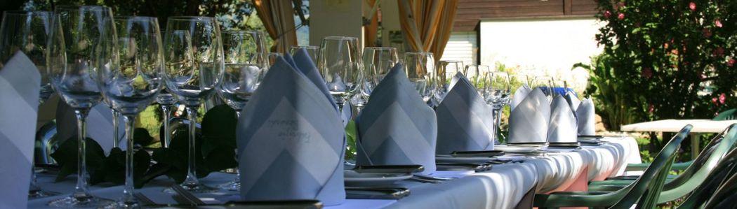 Beispiel: Tischdekoration, Foto: Hotel Bahnhof.