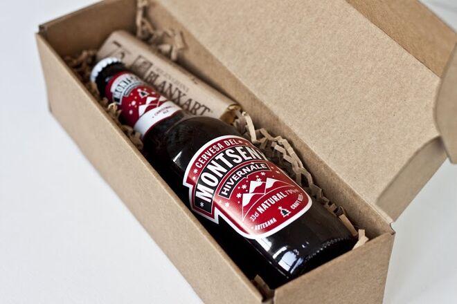 Chocolate y cerveza artesana especial para postres.