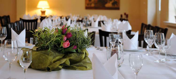 Beispiel: Tischdekoration, Foto: Rittergut Grossgoltern.