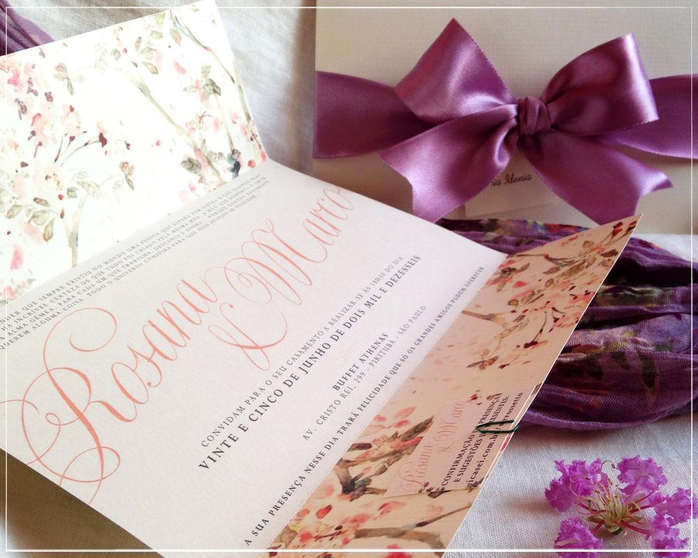 Convite Romantic Floral | Giselle Branco