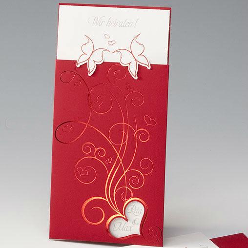 Beispiel: Hochzeitseinladung - Verliebte Schmetterlinge, Foto: Whitestore.at.