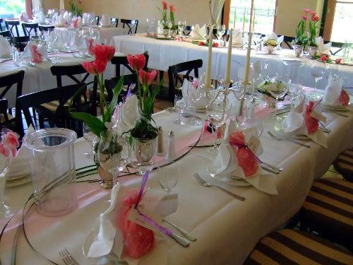 Beispiel: Tischdekoration, Foto: Hotel Arte Schwerin.