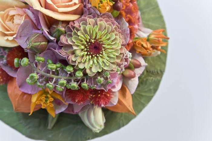 Beispiel: Einmalige Brautsträuße, Foto: Blumen Maarsen.