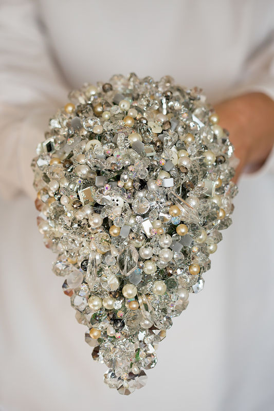 crystal teardrop bouquet