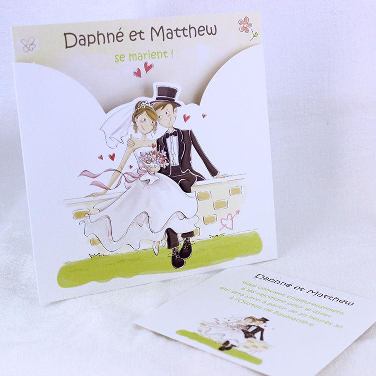 Faire-part Mariage Collection Tandem