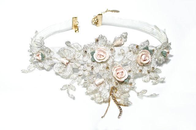 Arya Italian Jewels - Gioielli Sposa e Matrimonio - Collana Sposa  con rose e fiori