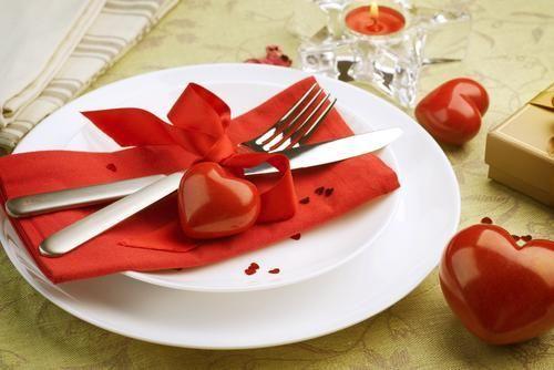 Beispiel: Tischdekoration Herz, Foto: Leerer Beutel.