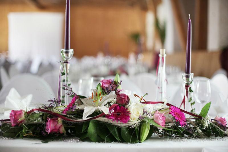 Beispiel: Tischdekoration, Foto: Gut Sedlbrunn.