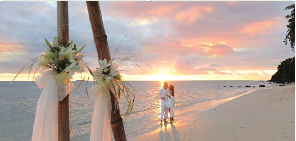 Heiraten am Strand - Mauritius Angsana