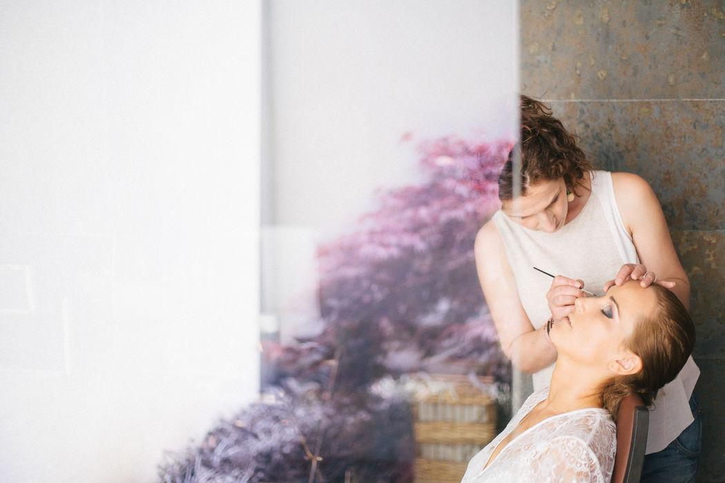Bride preparation!