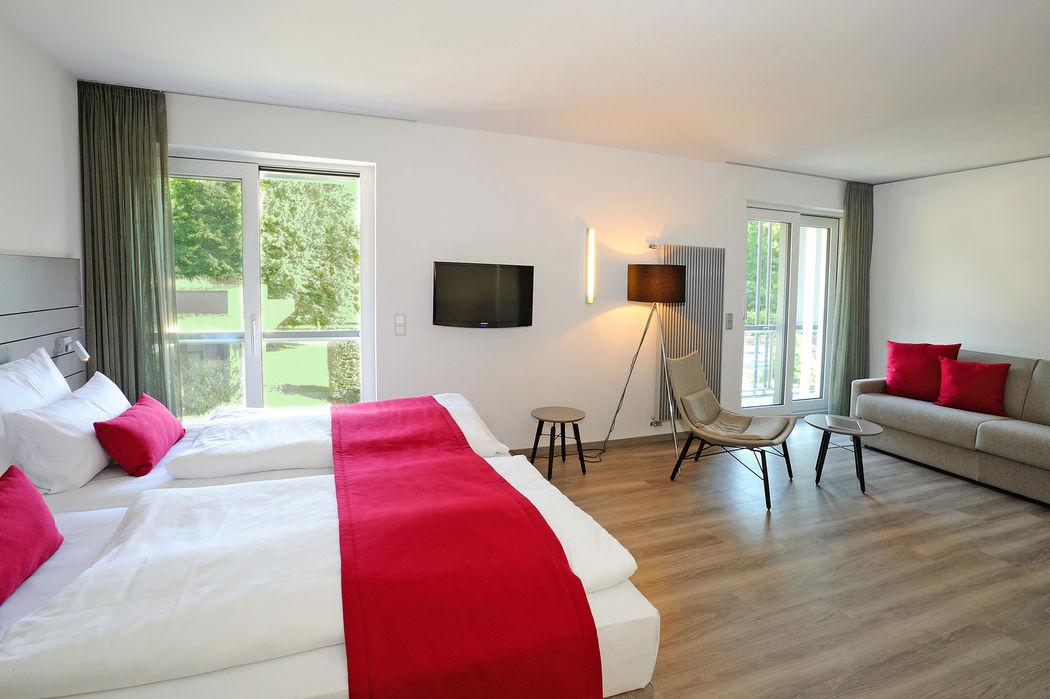 Beispiel: Doppelzimmer Deluxe, Foto: Schlosshotel Monrepos.