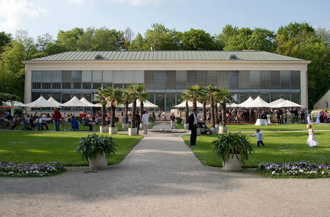 Beispiel: Terrasse, Foto: Schlosscafé im Palmenhaus.