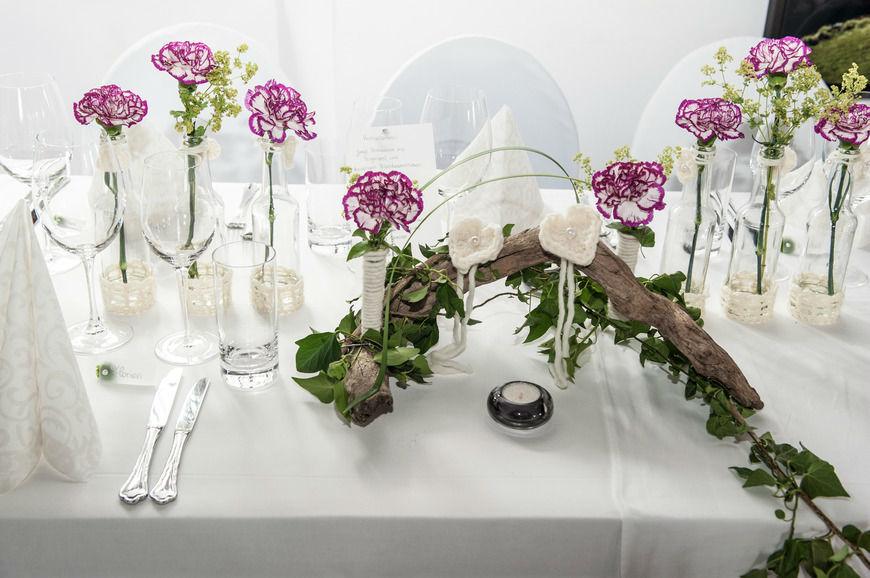 Beispiel: Tischdekoration, Foto: Schloss Amberg.