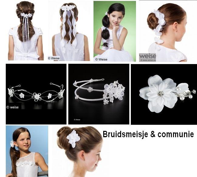 www.kristinabruidsmode.nl Ook voor het bruidsmeisje is er een grote keuze in accessoires onder andere van het merk Weise