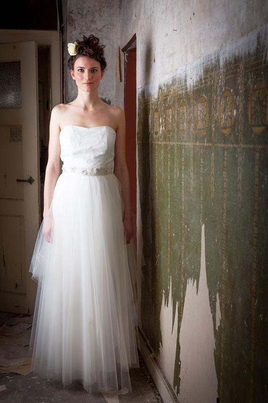 Beispiel: Ärmelloses Brautkleid, Foto: cees.fashion.