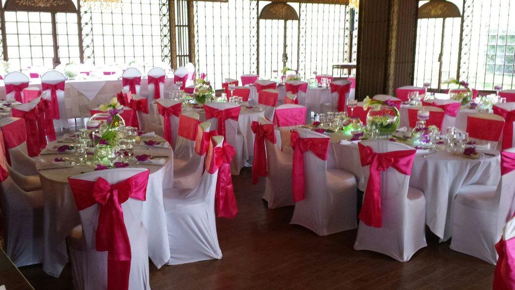 Pose de housse de chaise et ceinturage par Event-Evenements
