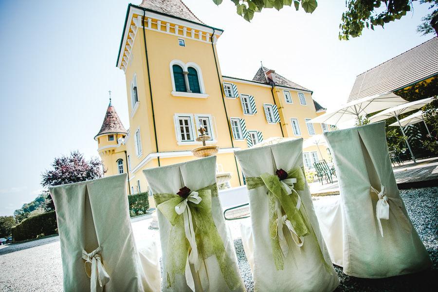 Die Trauung im Schlosshof