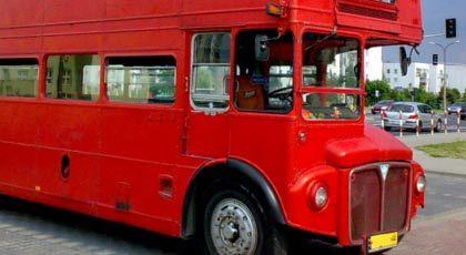 Zabytkowy autobus Double-Decker na ślub
