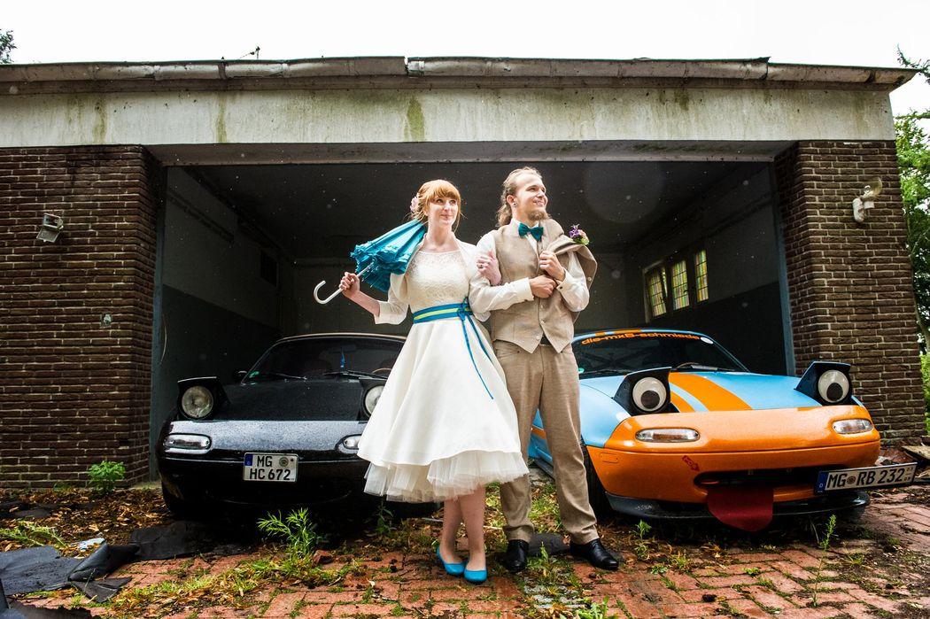 Cooles Brautpaar in Mönchengladbach