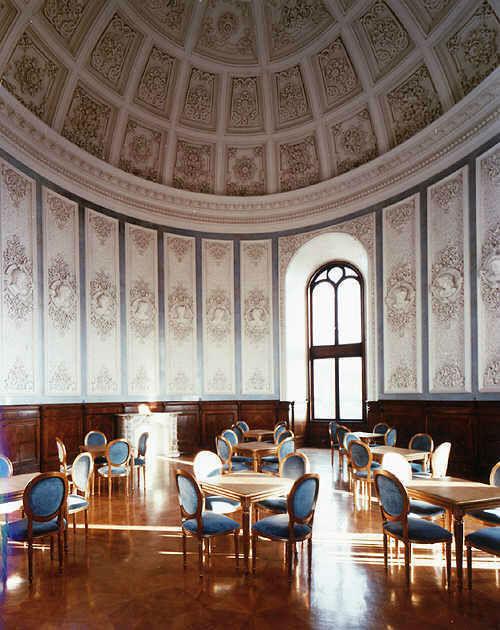 Beispiel: Stucksaal, Foto: Schloss Wolfsberg.