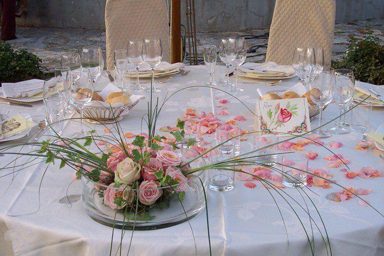 Allestimento tavoli - Villa Rospigliosi
