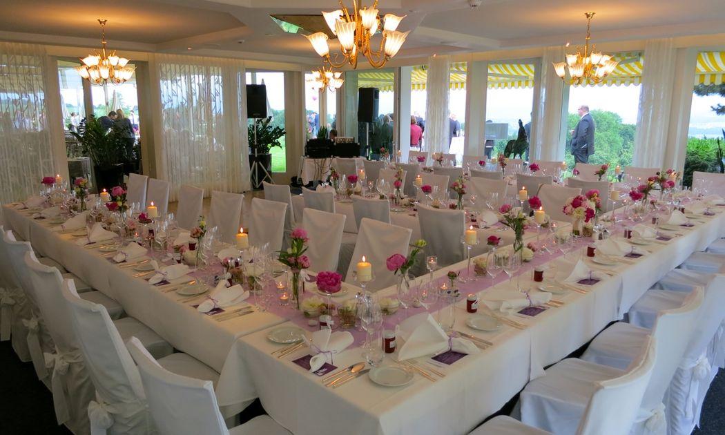 Beispiel: Tischanordnung / Dekoration, Foto: Hotel Restaurant Vogelsang.