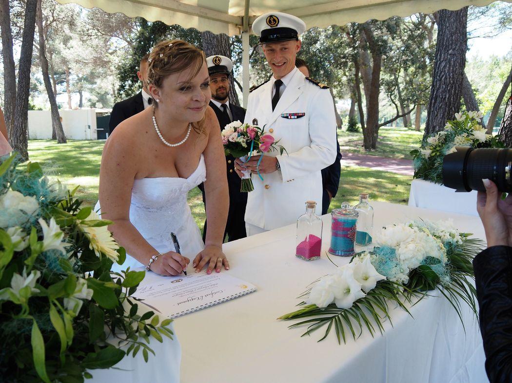 Signature du certificat d'engagement