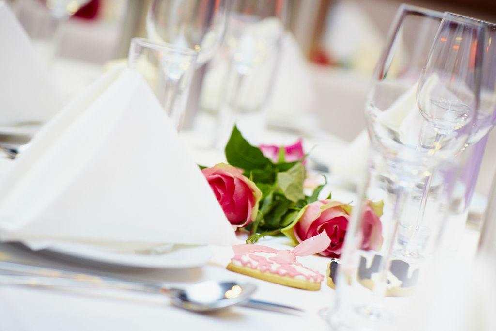 Beispiel: Tischdekoration, Foto: Marx Restauration.